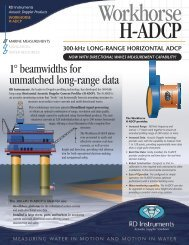 Download H-ADCP datasheet - RD Instruments
