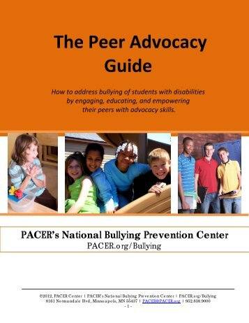 The Peer Advocacy Guide - PACER Center