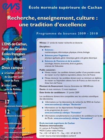Recherche, enseignement, culture : une tradition d'excellence ...