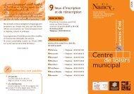 la plaquette des centres de loisirs de Nancy - Nancy Accessible
