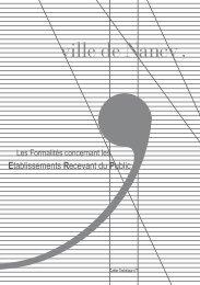 Etablissements Recevant du Public - Ville de Nancy