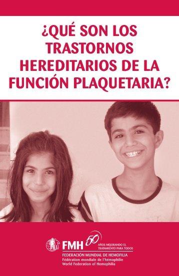 ¿Qué son los trastornos hereditarios de la función plaquetaria?