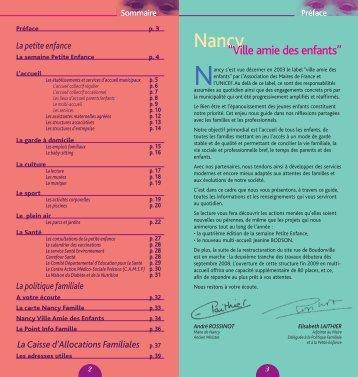 Guide de la petite enfance - Ville de Nancy