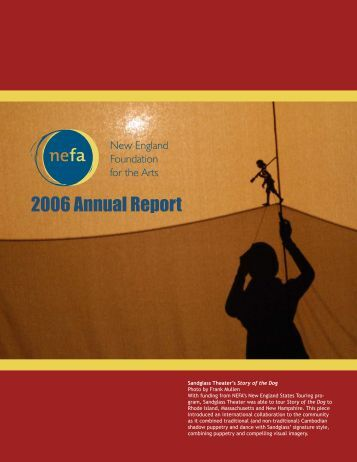 2006 Annual Report - New England Foundation for the Arts
