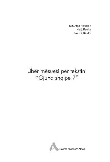 Gjuha shqipe 7 - Albas
