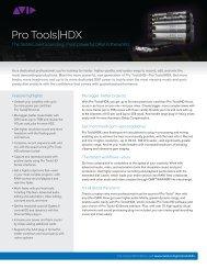 Pro Tools HDX Data Sheet - Advanced Audio