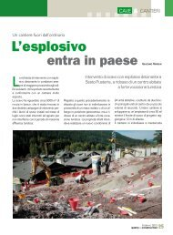 Febbraio 2013 L'esplosivo entra in paese - Geologico