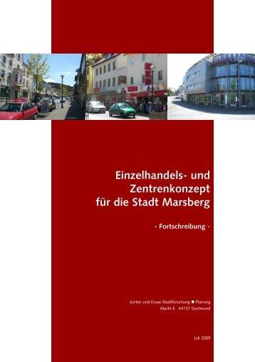 Einzelhandels- und Zentrenkonzept für die Stadt Marsberg