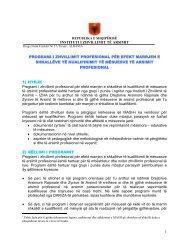 Arsimi Profesional - Instituti i Zhvillimit te Arsimit