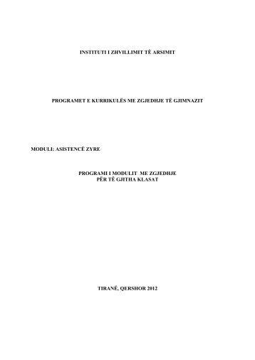 moduli: asistencë zyre - Instituti i Zhvillimit te Arsimit