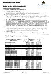 Building Regulations charges - Westminster City Council