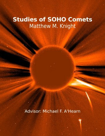 Studies of SOHO Comets - Department of Astronomy - University of ...