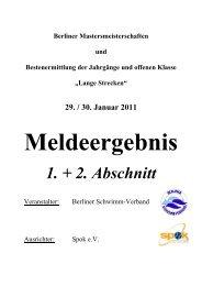 Berliner Mastersmeisterschaften und ... - Masters in Berlin