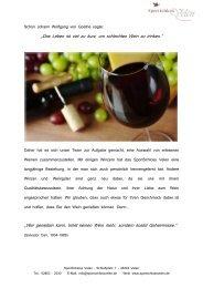 Das Leben ist viel zu kurz, um schlechten Wein zu trinken. - Über ...