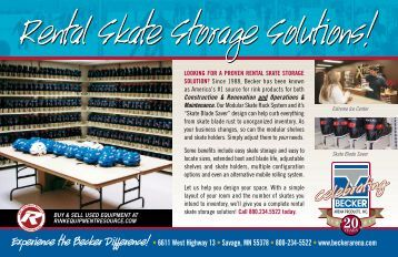 Rental Skate Storage Solutions! - Becker Arena Products, Inc.