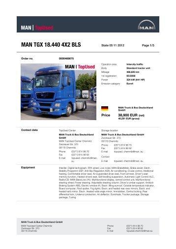 MAN TGX 18.440 4X2 BLS - MAN TopUsed