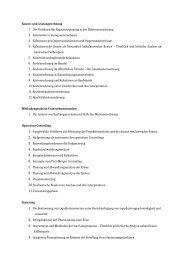 Themen der Abschlussarbeiten