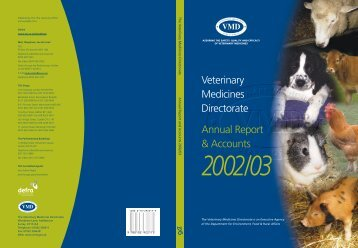 Annual Report 2002/2003 - Veterinary Medicines Directorate - Defra