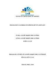 gjuhë shqipe dhe letërsi - Instituti i Zhvillimit te Arsimit