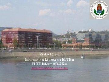 Dr. Zsakó László: Informatikai képzések az ELTE-n