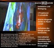 Installation und Bewegung 3 Projektoren 3 Leinwände ... - 2PEX.de