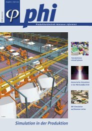Simulation in der Produktion - Produktionstechnik Hannover informiert