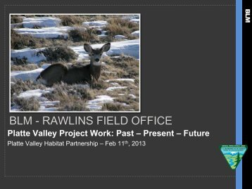 BLM Habitat Project Summary - Wyoming Game & Fish Department