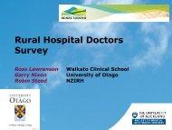 Rural Hospitals - New Zealand Rural General Practice Network's