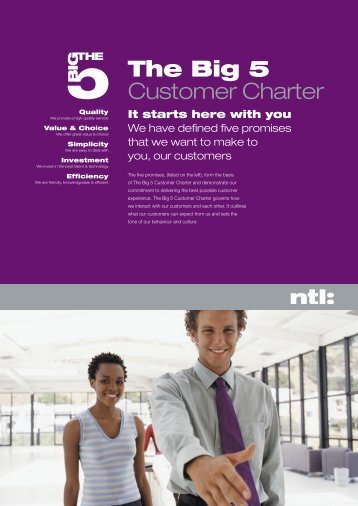 The Big 5 Customer Charter - Cable Forum