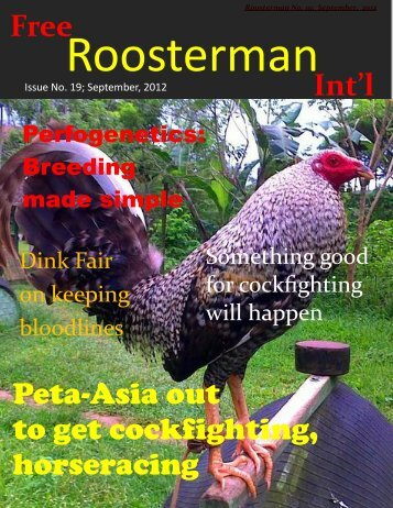 Roosterman No. 19, September, 2012 - Subscribe to Roosterman