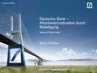 Deutsche Bank AG – Werner Steinmüller - GEO