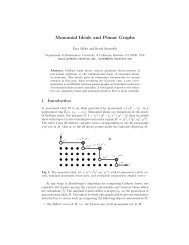 Monomial Ideals and Planar Graphs - Duke Mathematics Department