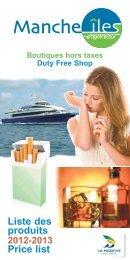 Téléchargez notre brochure au format PDF - Manche Iles Express