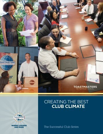 Creating the Best Club Climate.pdf - District 45 Toastmasters