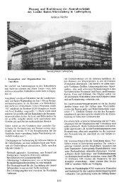 Planung und Realisierung der Zentralwerkstatt des Landes Baden ...
