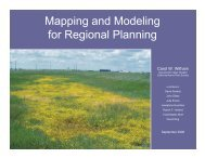 Mapping and Modeling for Regional Planning - California Native ...