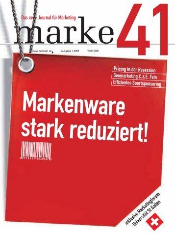 Marketingforum Universität St.Gallen - marke41