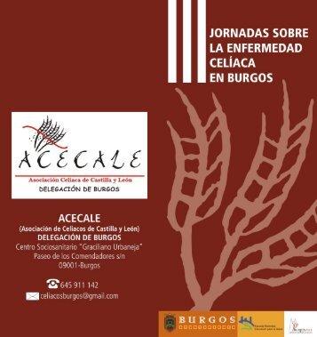 Diptico de las III Jornadas - Celiacos Burgos