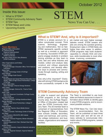What is STEM? - DuPage County Regional Office of Education