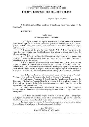 DECRETO-LEI Nº 7.841, DE 8 DE AGOSTO DE 1945