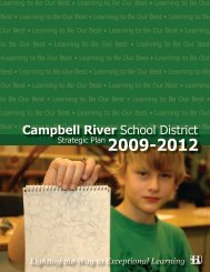 2009-2012 Strategic Plan - Campbell River School District