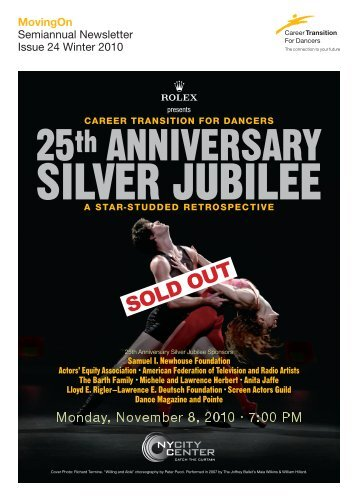 25th Anniversary Silver Jubilee - Career Transition For Dancers