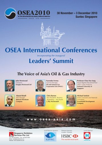 OSEA2010 Conference Brochure - Douglas-Westwood