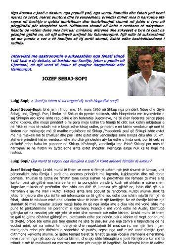 Intervistë me gastronomin e suksesshëm nga fshati Binçë Jozef Sebaj
