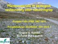 Plantemateriale til økologisk restaurering etter ... - Energi Norge