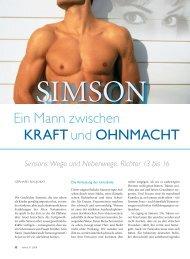 Simson – Ein Mann zwischen Kraft und Ohnmacht - Ethos