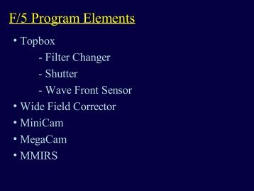 F/5 Program Elements - MagellanTech