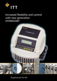 Increased flexibility and control with new generation HYDROVAR®