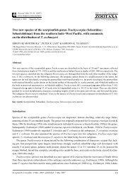 Zootaxa,Two new species of the scorpionfish genus Trachyscorpia ...