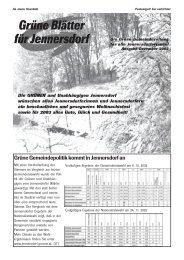Dezember - Die Grünen – Burgenland